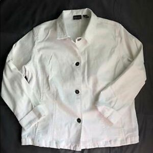 Chico's Additions Women's White Jean Jacket size 2
